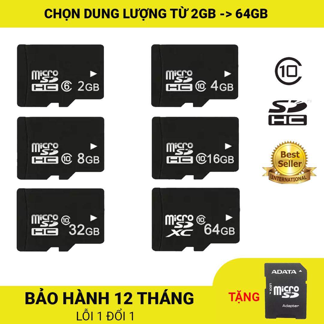 [Nhập ELJAN11 giảm 10%, tối đa 200k, đơn từ 99k]Thẻ nhớ MicroSDHC Class 10 Tốc độ cao 2GB/4GB/8GB/16GB/32GB+ Tặng kèm Adapter ADATA