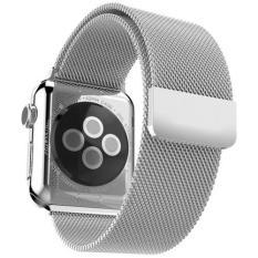 Dây Apple Watch Milanese Loop 42mm (Màu Bạc – Silver) – Dây Nam Châm Bằng Thép Không Gỉ