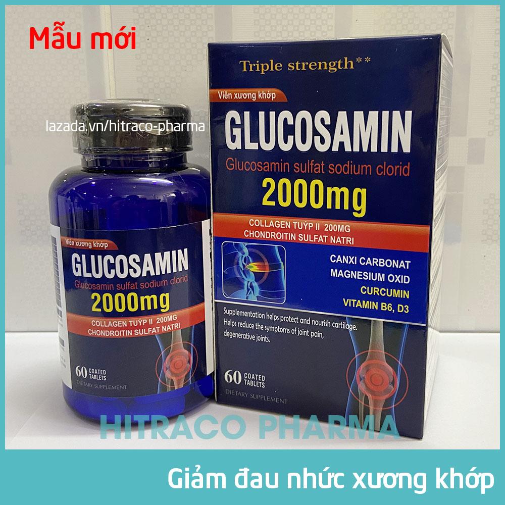 Viên Xương Khớp Glucosamin 2000mg giảm đau nhức mỏi xương khớp, giảm thoái hóa khớp, tăng độ nhớt nuôi dưỡng...