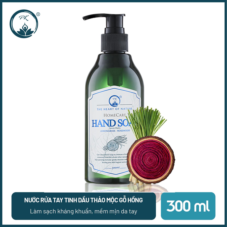 [SÁT KHUẨN] Nước rửa tay tinh dầu thảo mộc Gỗ Hồng PK 300ML- kết hợp tinh dầu Tràm Trà, thành phần hữu cơ, an toàn da tay