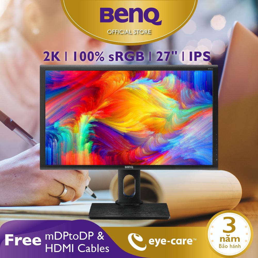 Màn hình máy tính BenQ PD2700Q 27inch 2K QHD 100% Rec.709 sRGB Eye-Care, chuyên Đồ họa, Xử lý hình ảnh cho Designer