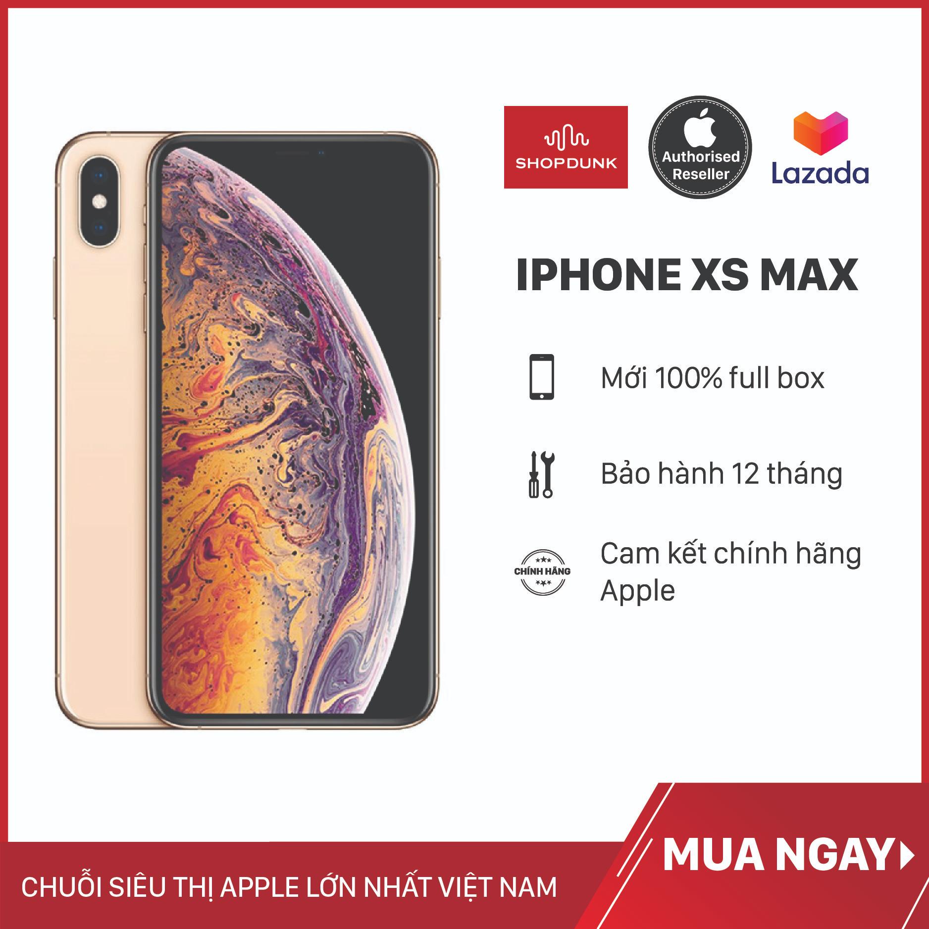 Điện thoại Apple iPhone Xs Max 1 Sim 64G, Hàng Nhập Khẩu, Chính Hãng, Chưa Kích Hoạt, Mới 100%, Bảo Hành 12 Tháng – Shopdunk