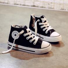 Giày cao cổ bé trai bé gái kiểu Converse Dây Buộc Có Khóa Ngang [C07-Ảnh Thật]