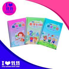 Set 3 Cuốn Sách Tập Viết Thần Kỳ + Bút Tự Xóa
