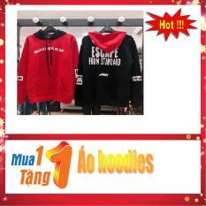 COMBO ÁO HOT : Áo Hoodies Mz038 (Đen) + Áo Hoodies Mz038 (Đỏ)
