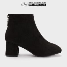 Giày Bốt Nữ Boot Da Lộn Gót Vuông Kéo Khoá HAPAS – 9BOT601