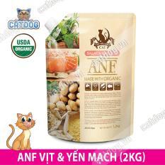 Hạt ANF Made with Organic vị Cá hồi và Khoai tây 1.2kg (Mèo)