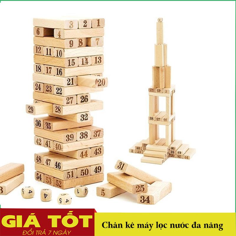 Đồ Chơi Rút Gỗ Xếp Hình, Bộ Đồ Chơi Xếp Hình Khối Gỗ 54 Thanh, Đồ chơi rút gỗ , Đỗ chơi rút gỗ cỡ lớn, Đồ chơi rút gỗ giá rẻ, an toàn khi sử dụng
