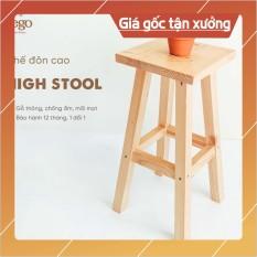 Ghế đôn cao 60cm Ghế trang trí decor gỗ thông Bàn ngồi ban công