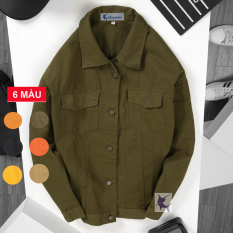 Áo khoác kaki jean nam HAHAMAN thời trang cao cấp KKJ604