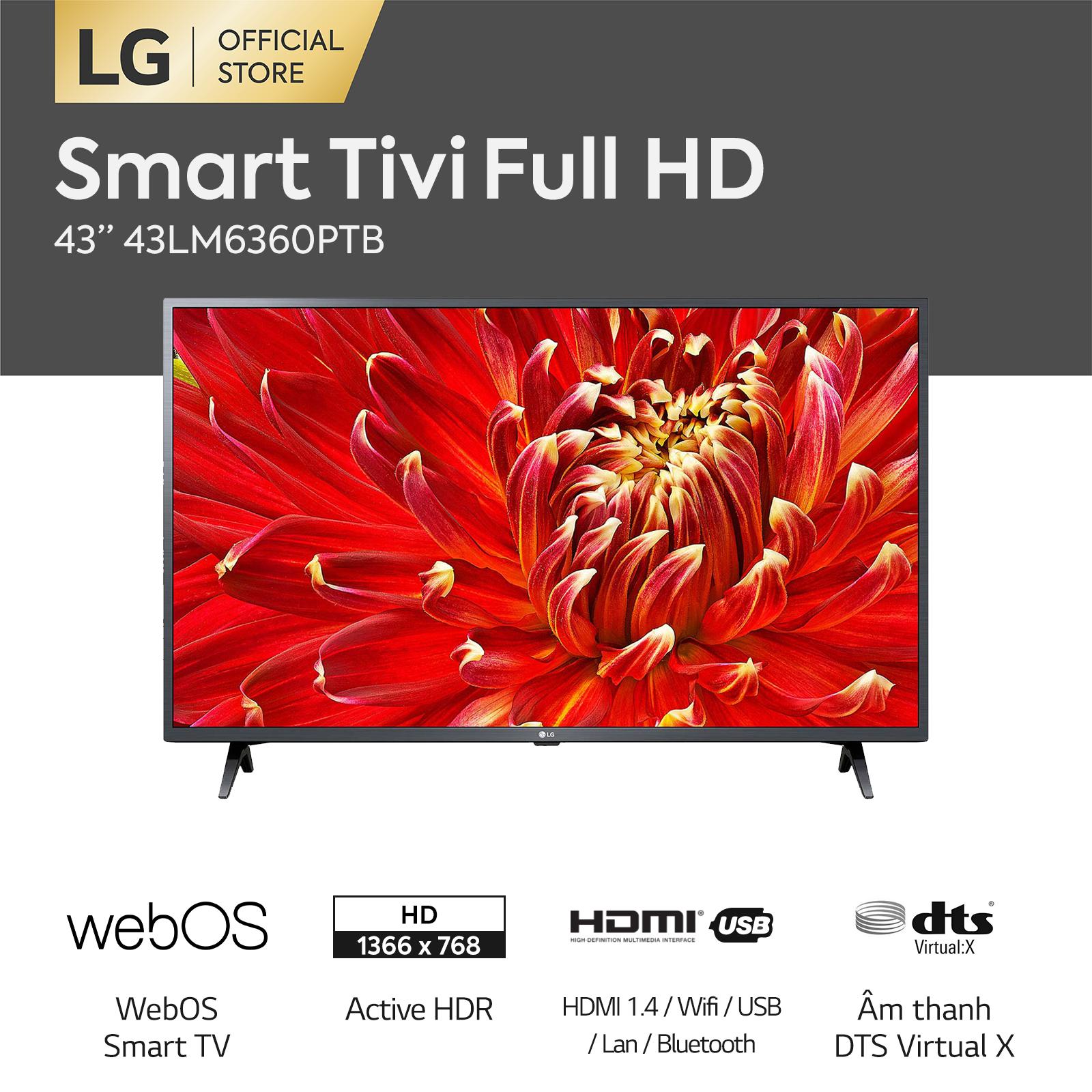 [ VOUCHER 850K] [FREESHIP 500K TOÀN QUỐC] Smart TV LG 43 inch Full HD 43LM6360PTB Model 2021 – Hãng phân phối chính thức
