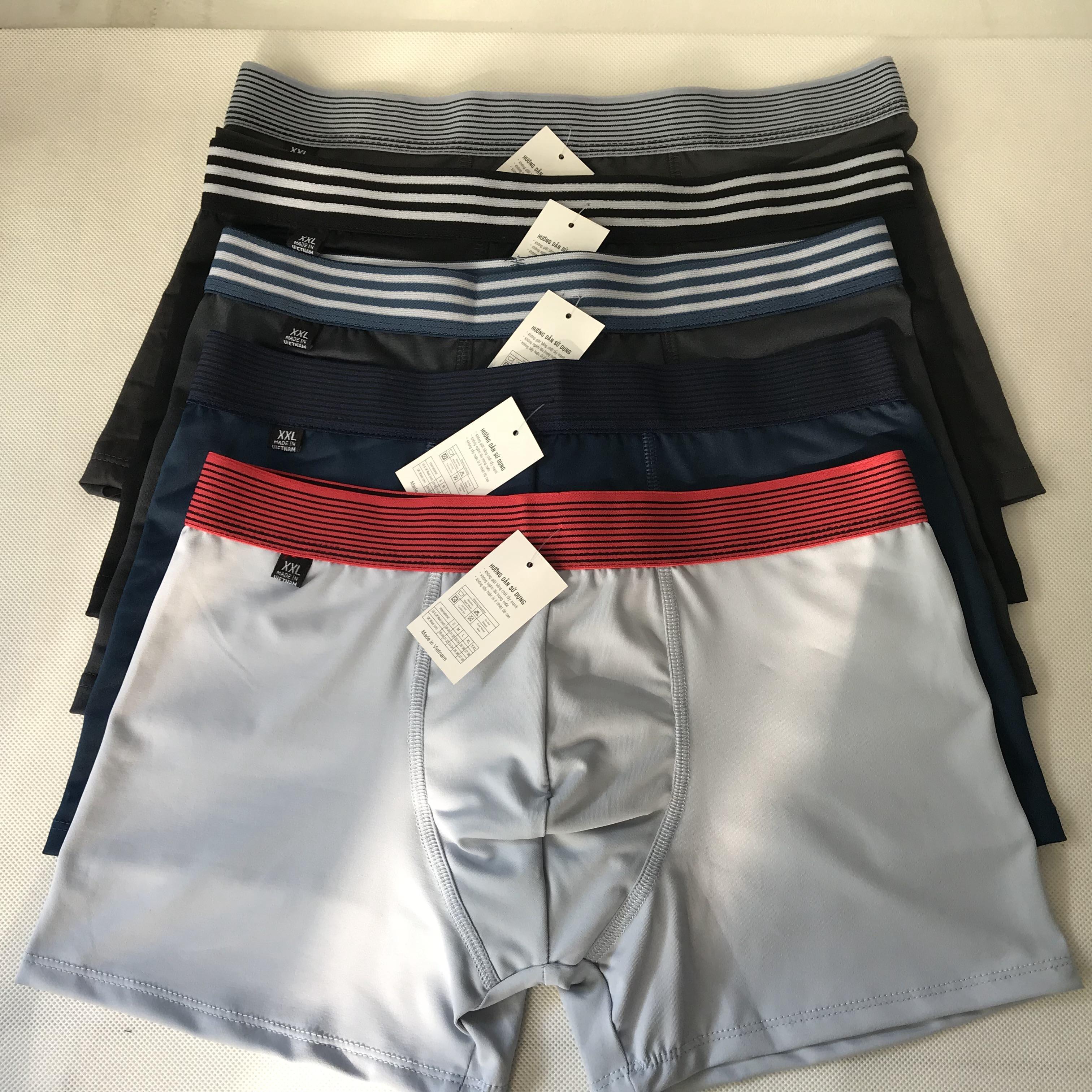 Combo 5 quần sịp đùi, quần lót boxer 100% cotton 4 chiều cực mát hàng cao cấp thời trang giá...
