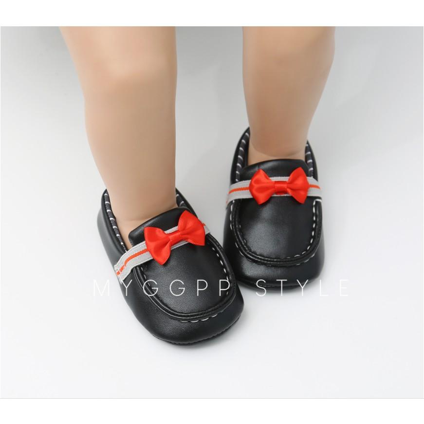 Giày da tập đi cho bé trai hàng Quảng Châu cao cấp size bé 0-12 tháng