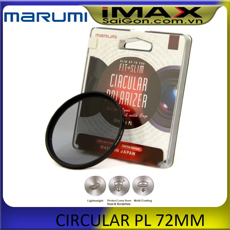 Kính lọc Filter Marumi Fit & Slim CPL 72mm (Hoằng Quân) + da cừu lau len