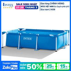 Bể bơi khung kim loại chữ nhật INTEX 28270 – Hồ bơi lắp dựng, Bể bơi gia đình, bể bơi cho bé, bể bơi người lớn, hồ bơi ngoài trời