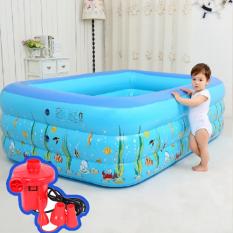 Bể bơi trẻ em 3 tầng 150cm – Mẫu mới 2020, Tặng kèm bơm điện