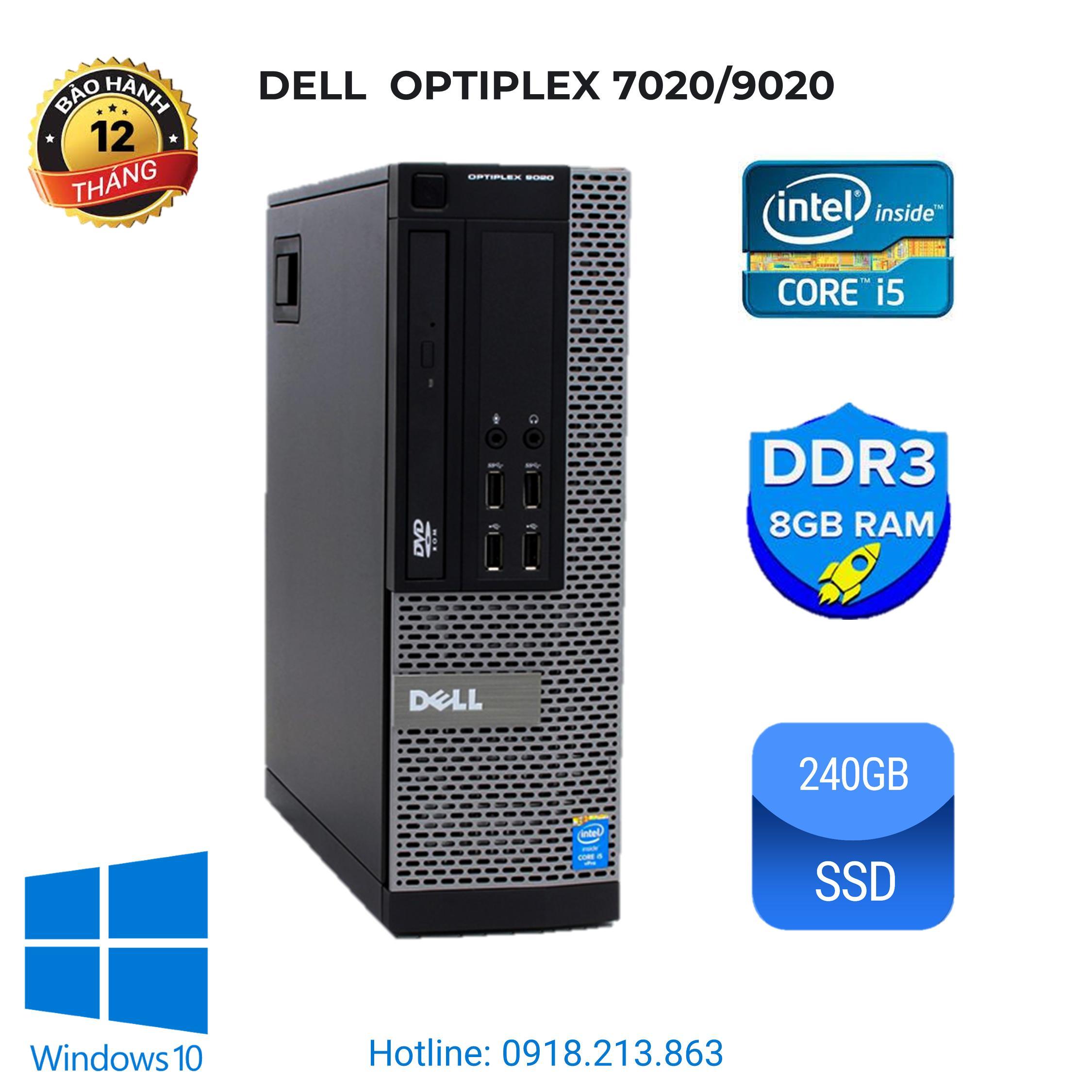 Máy tính đồng bộ Dell Optiplex 7020/9020. i5 4570/ ram 8GB/ SSD 240GB