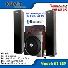 Loa Kovit 839 – Dàn âm thanh nghe nhạc gia đình cực hay kết nối với tivi, điện thoại, máy tính dễ dàng – Có bluetooth, Đài FM, Đọc USB, khiển từ xa