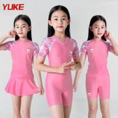 Đồ bơi cho bé gái kiểu Hàn Quốc Hồng phấn size từ 14kg đến 43kg