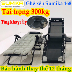 Ghế xếp thư giãn Sumika SK168 (Có thể ngã thành giường)