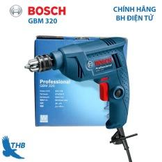 Máy khoan cầm tay Máy khoan xoay Bosch chính hãng GBM 320 công suất 320W đầu cặp khoan thép tối đa 6,5mm