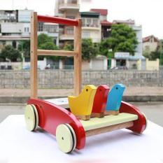 Xe tập đi cho bé , xe tập đi bằng gỗ 3 con gà cao cấp cho bé yêu, gỗ tự nhiên, gia công sắc xảo, màu sắc bắt mắt