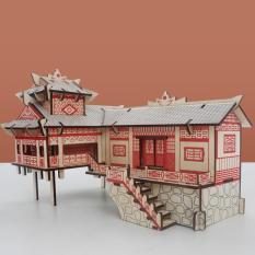 Đồ chơi lắp ráp gỗ 3D Mô hình Nhà sàn Laser TB-C004