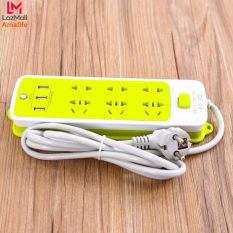 Ổ Cắm Điện Đa Năng Chống Giật Với 3 Cổng USB – Sạc Trực Tiếp – Tiết Kiệm Điện – Ổ Cắm Điện Xanh Lá Amalife