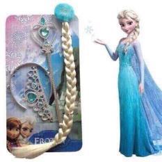 Set Phụ Kiện Công Chúa Elsa Vương Miệng, Gậy Phép Và Đuôi Tóc