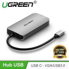 Bộ chuyển đổi mở rộng cổng USB type C sang VGA, tích hợp thêm 3 cổng USB3.0 UGREEN CM136 50210 – Hãng phân phối chính thức