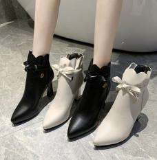 Giày boot cổ lửng,giày boot da đế cao 7cm B147
