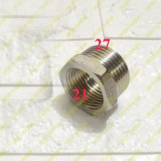 Nối ren ( cà rá, lơ thu) bằng inox ren trong, Ren Ngoài 21, 27.Nối ren vòi nước, ống nước: Ren trong 21/ ngoài 27. Cà rá Inox 304. trong 21 ngoài 27.LƠ THU 20/15 (27-21) INOX BÓNG, CÀ RÁ NỐI REN INOX GIÁ RẺ, ĐẦU NỐI ỐNG NƯỚC, KHỚP NỐI