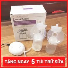 Máy hút sữa điện đôi Real Bubee tặng 5 túi trữ sữa
