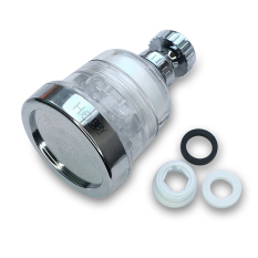 Đầu vòi tăng áp 3 chế độ có đầu lọc cặn HOBBY VSTA3 – vỏ trong suốt – hỗ trợ tăng áp lực 3 chế độ phun cực mạnh