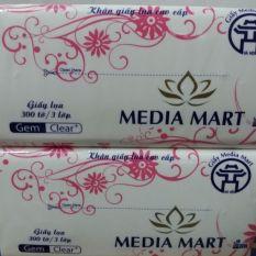 GIẤY RÚT LỤA MEDIA 300 TỜ 3 LỚP