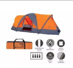 Lều cắm trại Bestway 68003, Dành cho 4 người KT 4.8m x 2.1m x 1.65m, có kèm túi đựng. Chất liệu: vải Polyester chống thấm, chống cháy cao cấp.Mái che có thể tháo dời phù hợp cho cả mùa nóng lẫn mùa mưa.