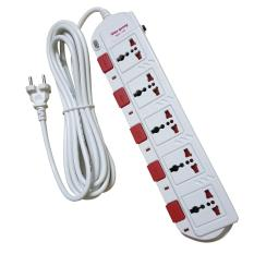 Ổ cắm Điện quang cao cấp ESK SM750SL – 5 ổ cắm 5 công tắc dây 5 mét công suất sử dụng cao 2800 watt – màu đen hoặc trắng
