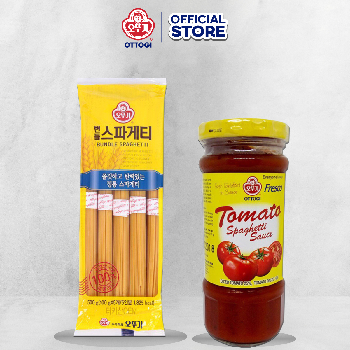Combo Mì Spaghetti 500g + Nước Sốt Nấu Mì 220g