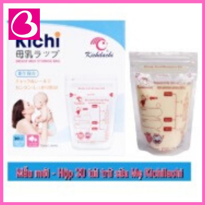 Hộp 30 túi trữ sữa Kichilachi tiện dụng cho mẹ