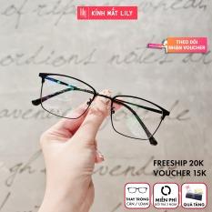 Gọng kính mắt tròn kim loại thời trang nữ 62038 – Gọng kính cận Lilyeyewear kèm quà