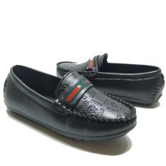 Giày cho bé trai giày lười đen-nâu-trắng từ 2 đến 10 tuổi (GC)