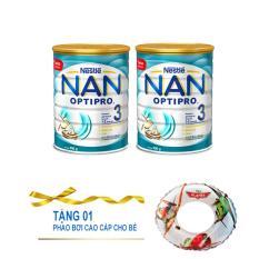 Combo 2 hộp sữa bột Nestlé Nan Optipro số 3 900g (1-2 tuổi) (Tặng 1 phao bơi cho bé)
