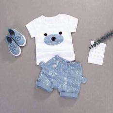 Bộ quần áo mẫu gấu con baby – Chất cotton