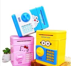 Két sắt mini nhận vật hoạt hình dành cho bé, Ông heo thông minh khóa mật mã,heo đất tiết kiệm tiện dụng