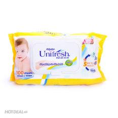 Khăn Ướt Unifresh 100 Tờ Không Mùi- Vitamin E
