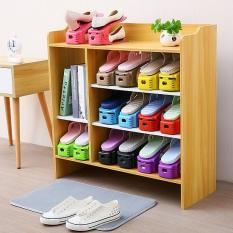 Bộ 5 kệ để giày tiết kiệm diện tích thông minh, Kệ để giầy dép gọn gàng tiện ích đa năng, Kệ để giày dép bằng nhựa cứng đa năng (Màu ngẫu nhiên)