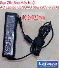 [ ZIN NHẬT CŨ ]Sạc Laptop LENOVO 65W (20 V – 3.25A) CHÂN 5.5X2.5mm Adaper LENOVO Thinkpad 20V – 3.25A ) Kèm dây nguồn Lajapa Laptop Nhật Bản-LAJAPA