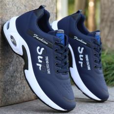 Giày thể thao nam MUHATIKI Đế giày đi êm Đế Tổng Hợp 3 màu trắng , xanh , đen