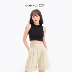 Quần short xếp ly GUMAC QB679