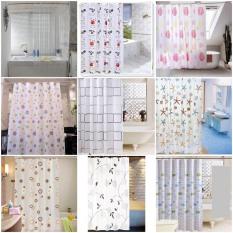 [HCM]Rèm phòng tắm nhựa PEVA chống thấm nước 1.8m x 1.8m cao kèm 12 móc GIÁ RẺ